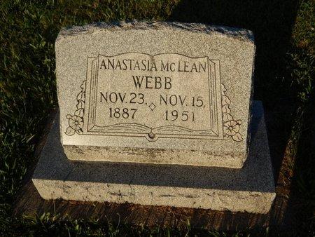 WEBB, ANASTASIA - Franklin County, Illinois   ANASTASIA WEBB - Illinois Gravestone Photos