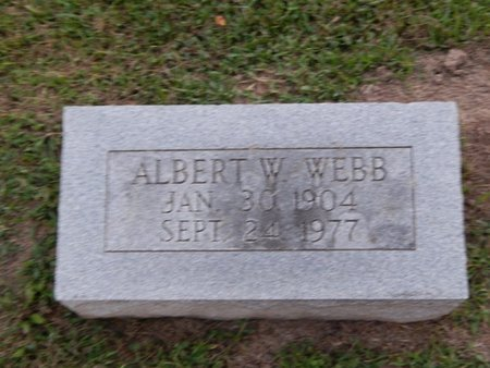WEBB, ALBERT W - Franklin County, Illinois | ALBERT W WEBB - Illinois Gravestone Photos