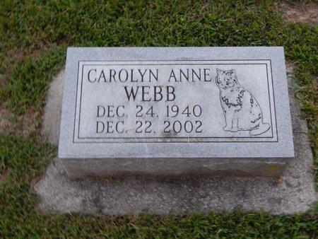 WEBB, CAROLYN ANNE - Franklin County, Illinois | CAROLYN ANNE WEBB - Illinois Gravestone Photos