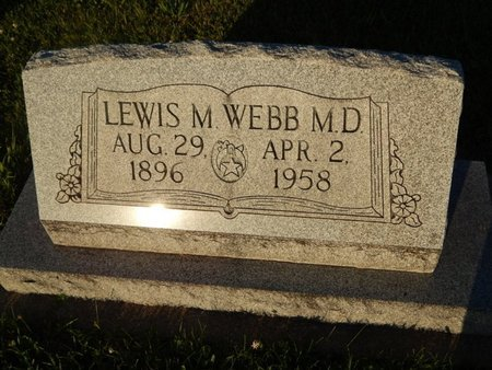 WEBB, LEWIS M (DOCTOR) - Franklin County, Illinois | LEWIS M (DOCTOR) WEBB - Illinois Gravestone Photos