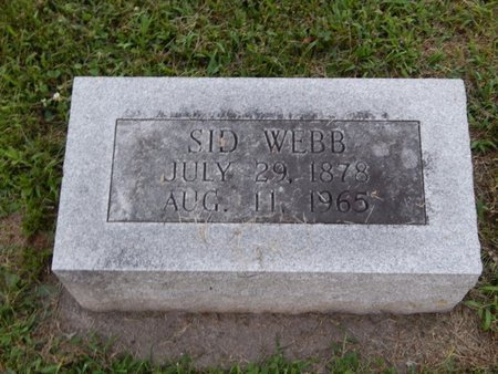 WEBB, SID - Franklin County, Illinois   SID WEBB - Illinois Gravestone Photos