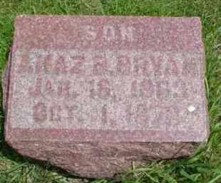 BRYAN, AHAZ B. - Fulton County, Illinois | AHAZ B. BRYAN - Illinois Gravestone Photos