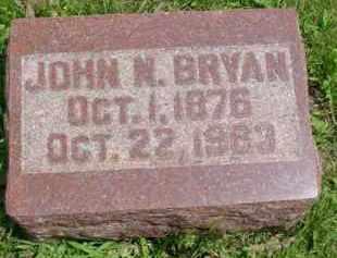BRYAN, JOHN NEWTON - Fulton County, Illinois | JOHN NEWTON BRYAN - Illinois Gravestone Photos