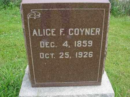 COYNER, ALICE - Fulton County, Illinois | ALICE COYNER - Illinois Gravestone Photos