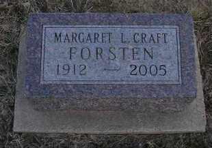 CRAFT FORSTEN, MARGARET LOUISE - Fulton County, Illinois | MARGARET LOUISE CRAFT FORSTEN - Illinois Gravestone Photos