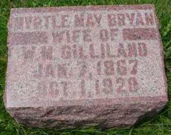 BRYAN GILLILAND, MYRTLE MAY - Fulton County, Illinois | MYRTLE MAY BRYAN GILLILAND - Illinois Gravestone Photos