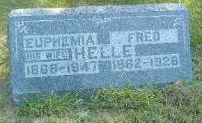 HELLE, FRED - Fulton County, Illinois | FRED HELLE - Illinois Gravestone Photos