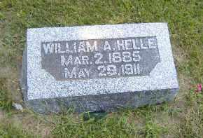 HELLE, WILLIAM A. - Fulton County, Illinois | WILLIAM A. HELLE - Illinois Gravestone Photos