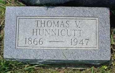 HUNNICUTT, THOMAS V. - Fulton County, Illinois   THOMAS V. HUNNICUTT - Illinois Gravestone Photos