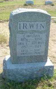 IRWIN, ORA E. - Fulton County, Illinois | ORA E. IRWIN - Illinois Gravestone Photos