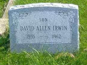IRWIN, DAVID ALLEN - Fulton County, Illinois | DAVID ALLEN IRWIN - Illinois Gravestone Photos
