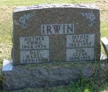 IRWIN, EDGAR - Fulton County, Illinois | EDGAR IRWIN - Illinois Gravestone Photos