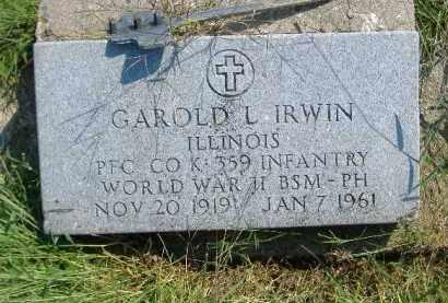 IRWIN, GAROLD L. - Fulton County, Illinois | GAROLD L. IRWIN - Illinois Gravestone Photos