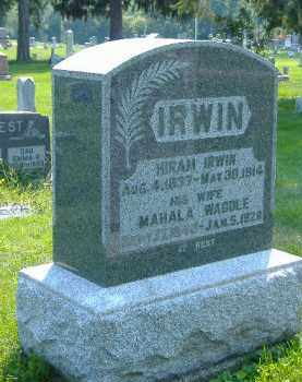 IRWIN, MAHALA - Fulton County, Illinois | MAHALA IRWIN - Illinois Gravestone Photos