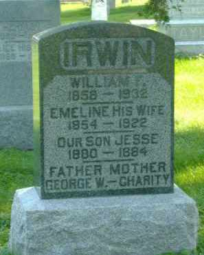 IRWIN, EMELINE - Fulton County, Illinois | EMELINE IRWIN - Illinois Gravestone Photos