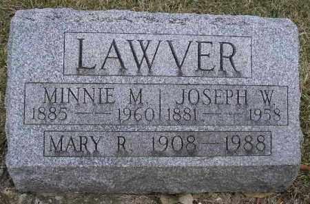 LAWVER, MARY R. - Fulton County, Illinois | MARY R. LAWVER - Illinois Gravestone Photos