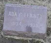 LEIGHTY, ADA CHARLENE - Fulton County, Illinois   ADA CHARLENE LEIGHTY - Illinois Gravestone Photos