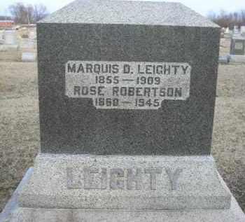 ROBERTSON LEIGHTY, ROSE - Fulton County, Illinois | ROSE ROBERTSON LEIGHTY - Illinois Gravestone Photos