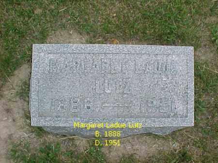 LUTZ, MARGARET LADUE - Fulton County, Illinois | MARGARET LADUE LUTZ - Illinois Gravestone Photos