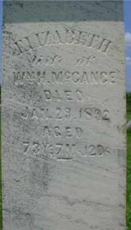 MCCANCE, ELIZABETH - Fulton County, Illinois | ELIZABETH MCCANCE - Illinois Gravestone Photos