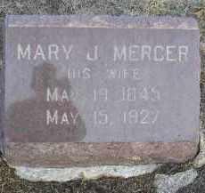 MERCER, MARY J. - Fulton County, Illinois | MARY J. MERCER - Illinois Gravestone Photos