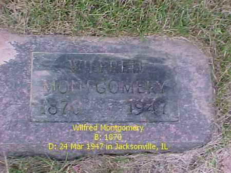 MONTGOMERY, WILFRED - Fulton County, Illinois | WILFRED MONTGOMERY - Illinois Gravestone Photos
