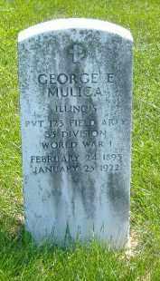 MULICA, GEORGE E. - Fulton County, Illinois | GEORGE E. MULICA - Illinois Gravestone Photos