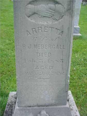 CARTER NEBERGALL, ARRETTA - Fulton County, Illinois   ARRETTA CARTER NEBERGALL - Illinois Gravestone Photos