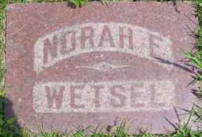 WETSEL (WETZEL), NORAH E. - Fulton County, Illinois | NORAH E. WETSEL (WETZEL) - Illinois Gravestone Photos