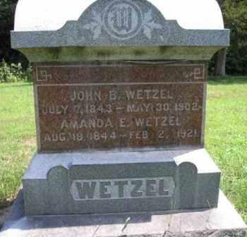 WETZEL, AMANDA ELIZABETH - Fulton County, Illinois | AMANDA ELIZABETH WETZEL - Illinois Gravestone Photos