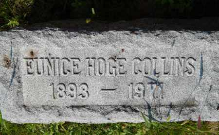 HOGE COLLINS, EUNICE - Grundy County, Illinois   EUNICE HOGE COLLINS - Illinois Gravestone Photos