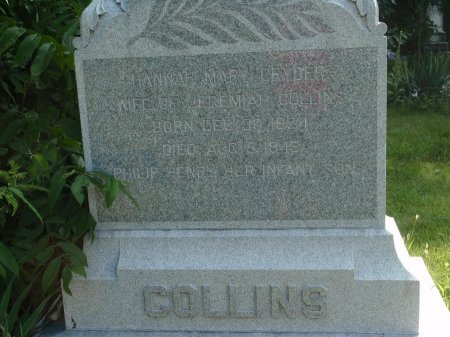 CRYDER COLLINS, HANNAH MARY - Grundy County, Illinois | HANNAH MARY CRYDER COLLINS - Illinois Gravestone Photos