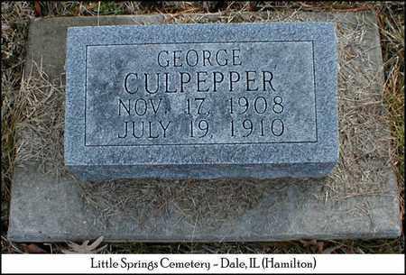 CULPEPPER, GEORGE - Hamilton County, Illinois | GEORGE CULPEPPER - Illinois Gravestone Photos