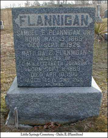 FLANNIGAN, MATILDA - Hamilton County, Illinois | MATILDA FLANNIGAN - Illinois Gravestone Photos