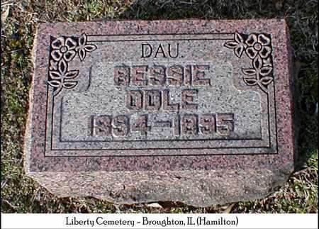 ODLE, BESSIE - Hamilton County, Illinois | BESSIE ODLE - Illinois Gravestone Photos