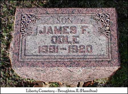 ODLE, JAMES F. - Hamilton County, Illinois   JAMES F. ODLE - Illinois Gravestone Photos