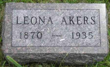 AKERS, LEONA - Hancock County, Illinois | LEONA AKERS - Illinois Gravestone Photos