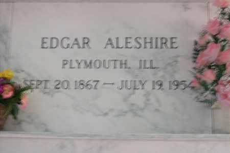 ALESHIRE, EDGAR - Hancock County, Illinois | EDGAR ALESHIRE - Illinois Gravestone Photos