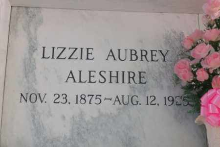 AUBREY ALESHIRE, LIZZIE - Hancock County, Illinois | LIZZIE AUBREY ALESHIRE - Illinois Gravestone Photos