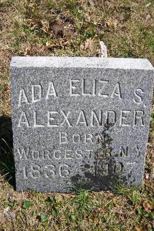 ALEXANDER, ADA ELIZA - Hancock County, Illinois | ADA ELIZA ALEXANDER - Illinois Gravestone Photos