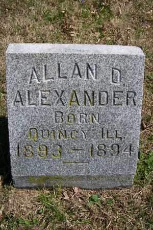 ALEXANDER, ALLAN D. - Hancock County, Illinois | ALLAN D. ALEXANDER - Illinois Gravestone Photos
