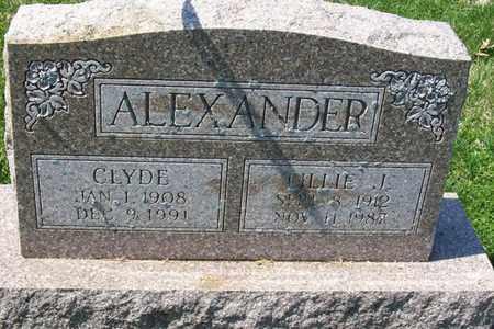ALEXANDER, CLYDE - Hancock County, Illinois   CLYDE ALEXANDER - Illinois Gravestone Photos