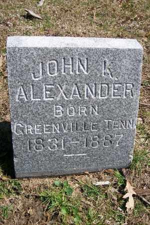 ALEXANDER, JOHN K. - Hancock County, Illinois | JOHN K. ALEXANDER - Illinois Gravestone Photos