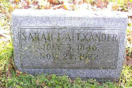 ALEXANDER, SARAH I. - Hancock County, Illinois | SARAH I. ALEXANDER - Illinois Gravestone Photos