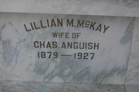 MCKAY ANGUISH, LILLIAN M. - Hancock County, Illinois | LILLIAN M. MCKAY ANGUISH - Illinois Gravestone Photos