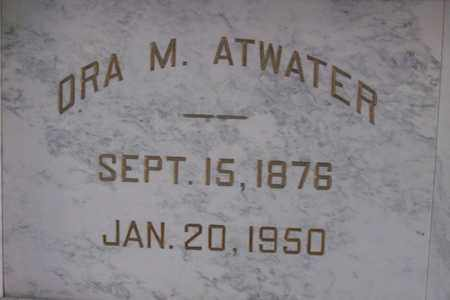 BLACK ATWATER, ORA MAY - Hancock County, Illinois | ORA MAY BLACK ATWATER - Illinois Gravestone Photos