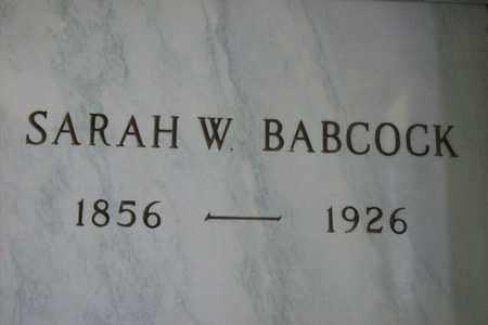 BARTLETT BABCOCK, SARAH MILDRED - Hancock County, Illinois | SARAH MILDRED BARTLETT BABCOCK - Illinois Gravestone Photos
