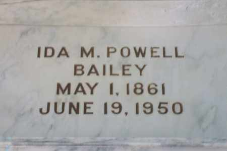 POWELL BAILEY, IDA M. - Hancock County, Illinois | IDA M. POWELL BAILEY - Illinois Gravestone Photos