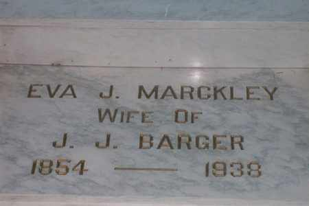 MARCKLEY BARGER, EVA JANE - Hancock County, Illinois | EVA JANE MARCKLEY BARGER - Illinois Gravestone Photos