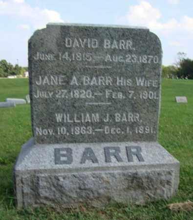 BARR BARR, JANE ALEXANDER - Hancock County, Illinois   JANE ALEXANDER BARR BARR - Illinois Gravestone Photos